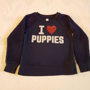Girls Gap I ❤ Puppies Sweatshirt 12 XL Like New